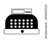cash register equipment for the ... | Shutterstock .eps vector #694652521