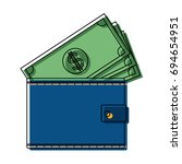wallet money banknote pay bank... | Shutterstock .eps vector #694654951