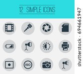 vector illustration set of... | Shutterstock .eps vector #694661947