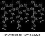 leaves with vine pattern.  ... | Shutterstock .eps vector #694663225
