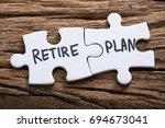 closeup of connected retire... | Shutterstock . vector #694673041