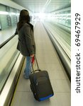 business travel with luggage | Shutterstock . vector #69467929