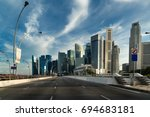 city road | Shutterstock . vector #694683181