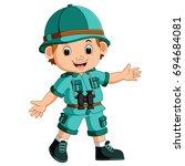 vector illustration of cute...   Shutterstock .eps vector #694684081