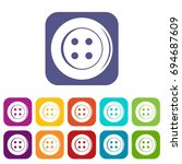 sewing button icons set ... | Shutterstock . vector #694687609