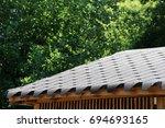 roofing flexible fiberglass... | Shutterstock . vector #694693165