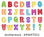 vector of stylized colorful...   Shutterstock .eps vector #694697011
