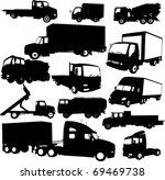 tracks collection 2   vector   Shutterstock .eps vector #69469738