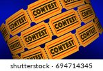 contest competition enter to... | Shutterstock . vector #694714345
