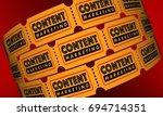 content marketing video movie...   Shutterstock . vector #694714351
