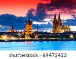 the skyline of the german city... | Shutterstock . vector #69472423