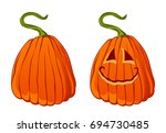 pumpkin on a white background | Shutterstock .eps vector #694730485