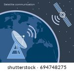 satellite communication | Shutterstock .eps vector #694748275