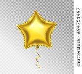 golden foil star shape vector...   Shutterstock .eps vector #694751497