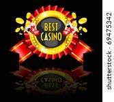 casino reward with golden ring  ...   Shutterstock .eps vector #69475342
