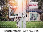 home for sale and real estate... | Shutterstock . vector #694762645
