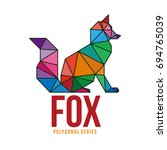 low poly logo icon symbol fox... | Shutterstock .eps vector #694765039