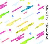 memphis pattern seamless.... | Shutterstock .eps vector #694767049