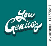 you genius   vector the... | Shutterstock .eps vector #694770049