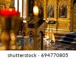 church. orthodox church.... | Shutterstock . vector #694770805