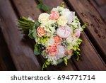 pink bouquet   Shutterstock . vector #694771714