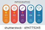 infographic elements vector... | Shutterstock .eps vector #694775245