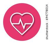 vector heart rate in circle... | Shutterstock .eps vector #694778014