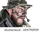 united states commando face... | Shutterstock . vector #694790959