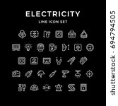 set line icons of electricity | Shutterstock .eps vector #694794505