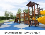 children playground in the park | Shutterstock . vector #694797874
