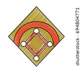 baseball field isolated | Shutterstock .eps vector #694804771