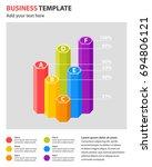 column chart info graphics... | Shutterstock .eps vector #694806121