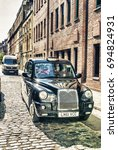 london   may 2013  black cab... | Shutterstock . vector #694824931