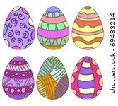 colorful vector easter egg... | Shutterstock .eps vector #69483214