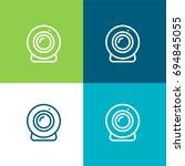webcam green and blue material... | Shutterstock .eps vector #694845055