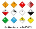 hazardous goods signs | Shutterstock .eps vector #69485065