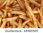 Close Up French Fries In Detail