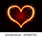 Glowing Heart With Stars