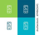smartphone green and blue...