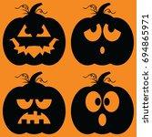 set of illustrated cartoon jack ... | Shutterstock .eps vector #694865971