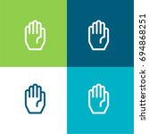 hand green and blue material...   Shutterstock .eps vector #694868251