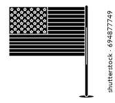 united states of america flag | Shutterstock .eps vector #694877749