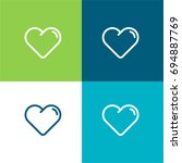heart green and blue material