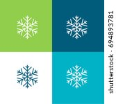 snowflakes green and blue...