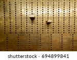 Old Safe Deposit Boxes With Tw...