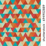 texture of colored triangles... | Shutterstock . vector #694902889