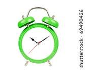 Classic Alarm Clock. Isolated ...