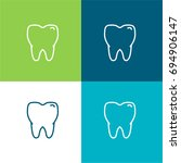 tooth green and blue material...