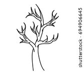 dry tree isolated icon | Shutterstock .eps vector #694906645