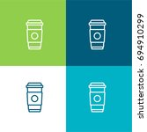 coffee cup green and blue...